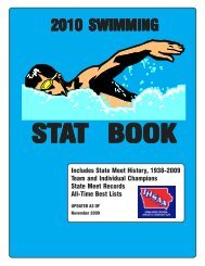 2010 swimming stat book - Iowa High School Athletic Association