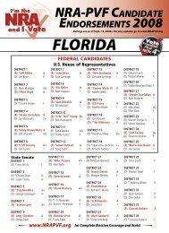 NRA-PVF CANdidAte eNdoRsemeNts 2008 - GunSafety - Florida