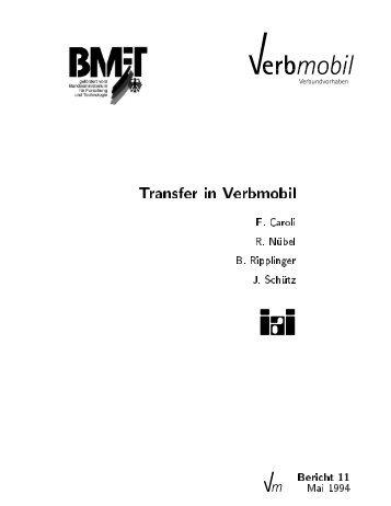 Transfer in Verbmobil