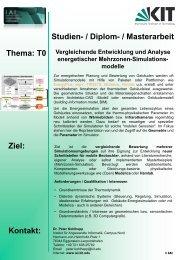 Vergleichende Entwicklung und Analyse energetischer Mehrzonen ...