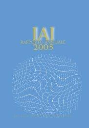 Rapporto attività 2005 - Istituto Affari Internazionali