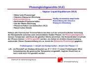 Phasengleichgewichte (VLE) - Chemie - Universität Hamburg