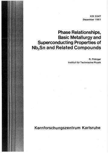 Phase Relationships, Basic Metallurgy and ... - Bibliothek