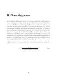B. Phasendiagramme