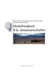 Modulhandbuch B.Sc. Geowissenschaften - Albert-Ludwigs ...