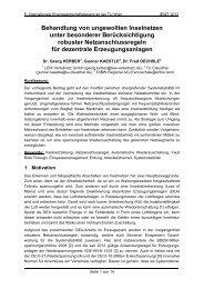 Behandlung von ungewollten Inselnetzen unter besonderer ... - EEG