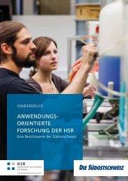 Forschung an der HSR - Eine Berichtsserie der Südostschweiz