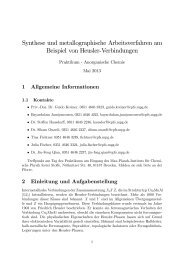 Synthese und metallographische Arbeitsverfahren am Beispiel von ...