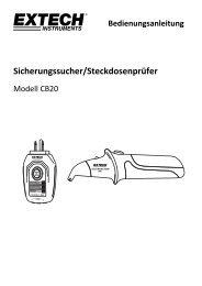 Sicherungssucher/Steckdosenprüfer - Extech Instruments