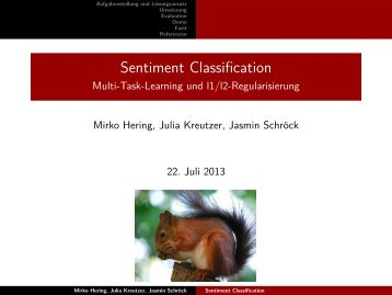 Sentiment Classification - Multi-Task-Learning und l1/l2 ...