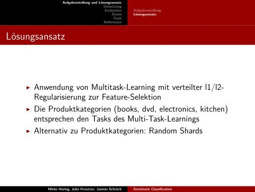 Sentiment Classification - Multi-Task-Learning und l1/l2 ...