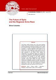 The Future of Syria and the Regional Arms Race - IAI