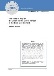 The State of Play of the Union for the Mediterranean in the Euro-Med ...