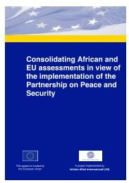Consolidating African and EU assessments in view of - Istituto Affari ...