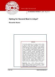 Opting for Second Best in Libya? - Istituto Affari Internazionali