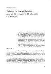 Relatos de los tojolabales, mayas de los Altos de Chiapas en México