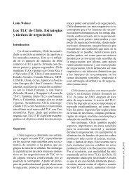 Los TLC de Chile. Estrategias y tácticas de negociación