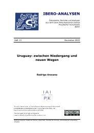 Heft 13: Uruguay: Zwischen Niedergang und neuen Wegen - Ibero ...