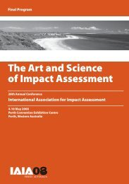 The Art and Science of Impact Assessment - International ...