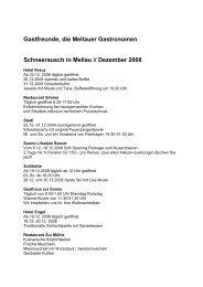 Gastfreunde, die Mellauer Gastronomen Schneerausch in Mellau ...