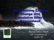 Incorporating Climate Change into Cumulative Effects Assessment ...