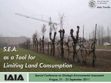 S.E.A. as a Tool for Limiting Land Consumption - International ...