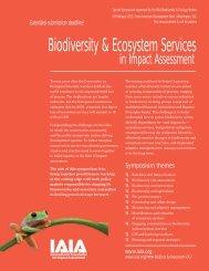 Biodiversity & Ecosystem Services - International Association for ...