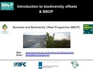 Introduction to biodiversity offsets & BBOP - International Association ...