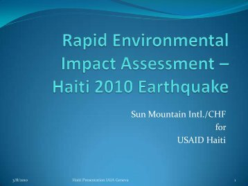 Haiti 2010 Earthquake - International Association for Impact ...