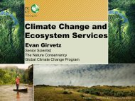 Climate Change and Ecosystem Services