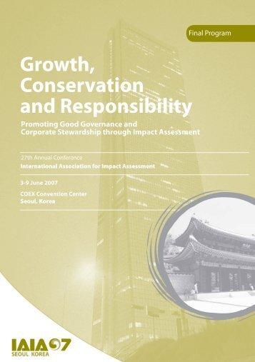 Final Program - International Association for Impact Assessment