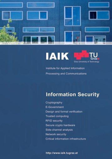 Download IAIK Info Brochure - Institute of Applied Information ...