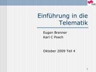 Einführung in die Telematik - Institute of Applied Information ...