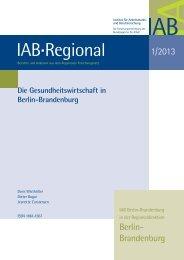 Die Gesundheitswirtschaft in Berlin-Brandenburg - IAB