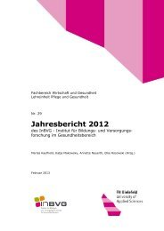 InBVG-Jahresbericht 2012 - Fachhochschule Bielefeld