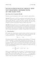 multi-sample spatial median test not requiring distributions of the ...