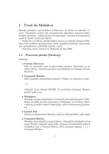 1 Úvod do Matlab-u