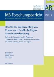 Beruflicher Wiedereinstieg von Frauen nach familienbedingter ... - IAB