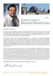 Aktueller Newsletter Berliner Rundschau 16/2013 - Lämmel, Andreas