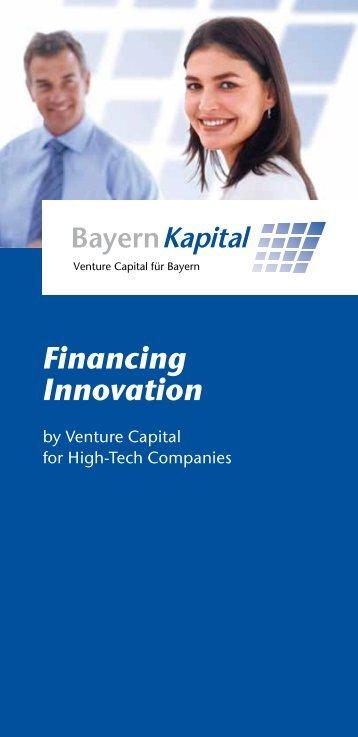 Financing Innovation - Bayern Kapital