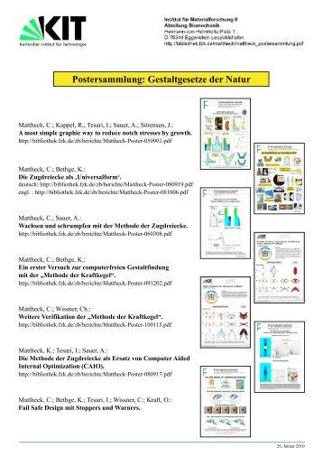 Postersammlung: Gestaltgesetze der Natur - IAM