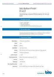 bito Balkon-Finish FI 417 - Bito AG