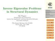 Inverse Eigenvalue Problems in Structural Dynamics - Institut für ...