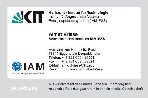 Visitenkarte Business Card Iam Kit