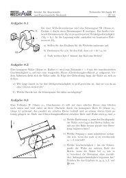 Blatt 8: Drallsatz - Institut für Angewandte und Experimentelle ...