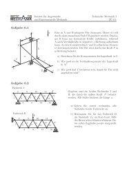 Blatt 6: Gleichgewicht 3D, Fachwerk - Institut für Angewandte und ...