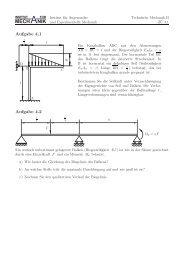 Blatt 4 - Institut für Angewandte und Experimentelle Mechanik