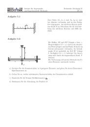 Blatt 5 - Institut für Angewandte und Experimentelle Mechanik
