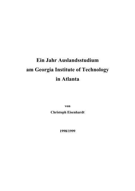 Christoph Eisenhardt - Institut für Angewandte und Experimentelle ...