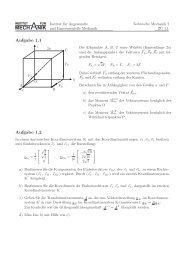 Blatt 1 - Institut für Angewandte und Experimentelle Mechanik